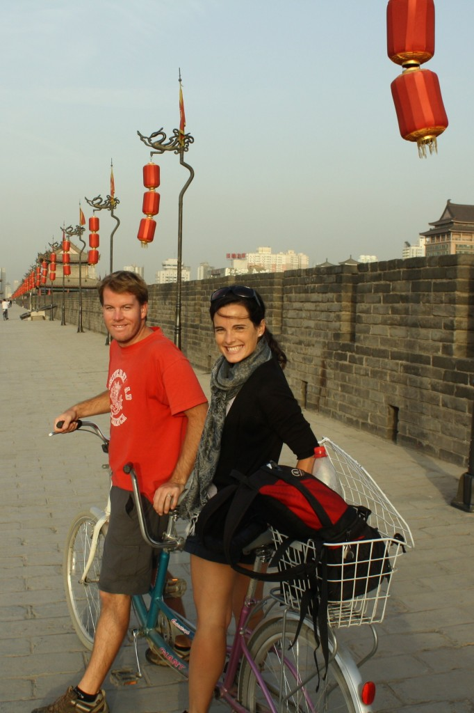 Biking the City Walls in Xian, China
