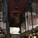 A look at the sleeper beds aboard the ramshackle buses in India