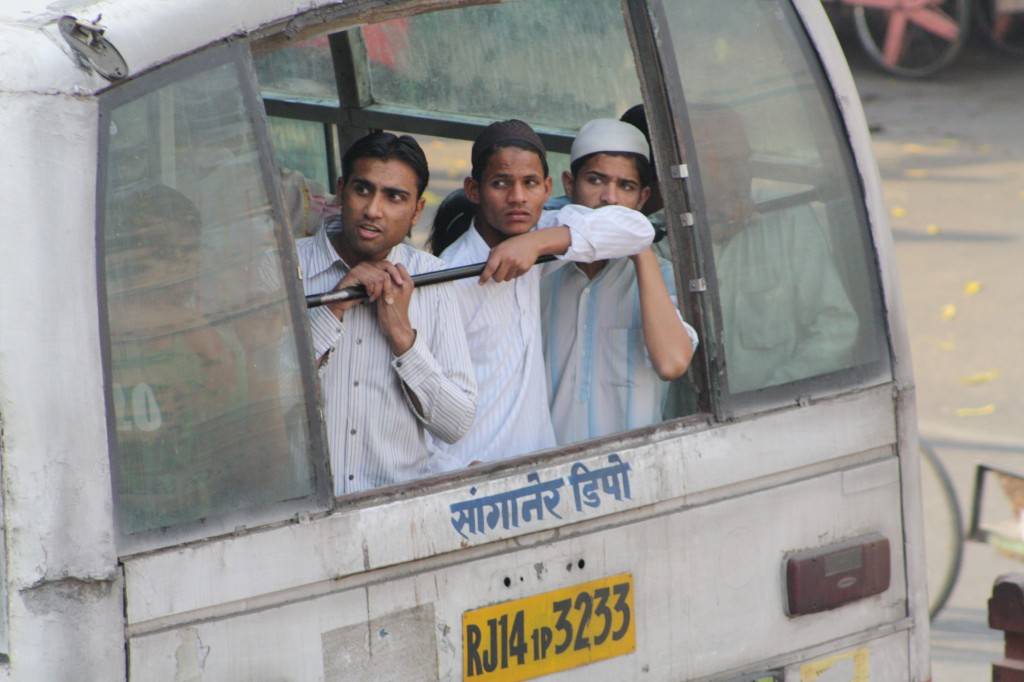 Crowded buses of India