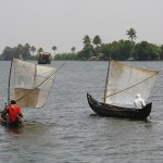 Scenes from the backwaters of Kerala