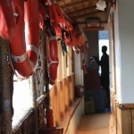 View of hallway to the kitchen on houseboat