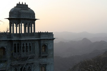 Sunset from Monsoon Palace overlooking Udaipur