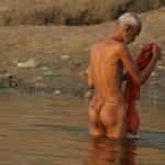 Morning puja along the ghats of Varanasi