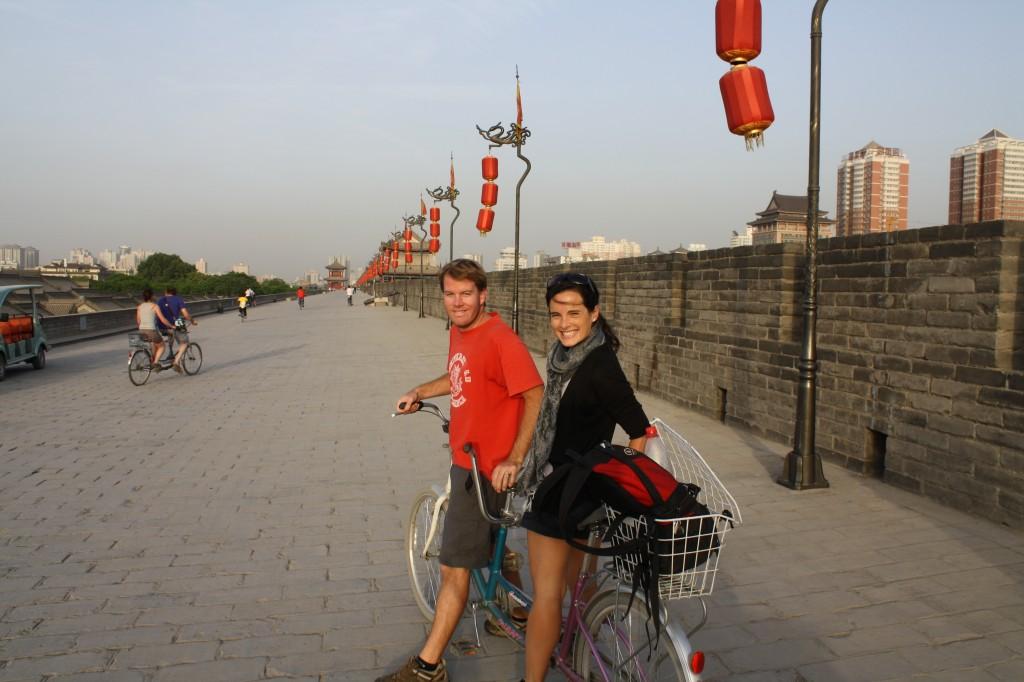 Cycling the Xi'an City Walls