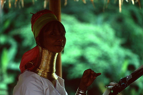Kayan Lahwi Tribe Woman in Burma Warmest of Welcomes