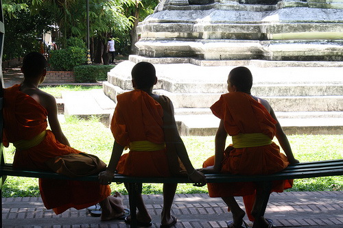 Novice Monks in Chiang Mai Thailand Thai Time