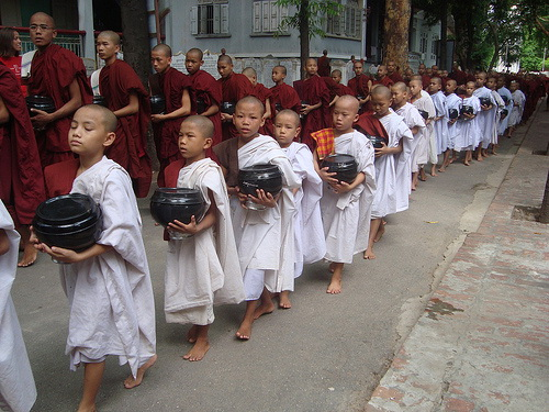 Novice Monks Warmest of Welcomes