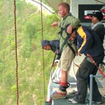 About to make the jump off the highest bungee jump in the world
