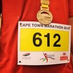 Cape Town Marathon bib number and medal