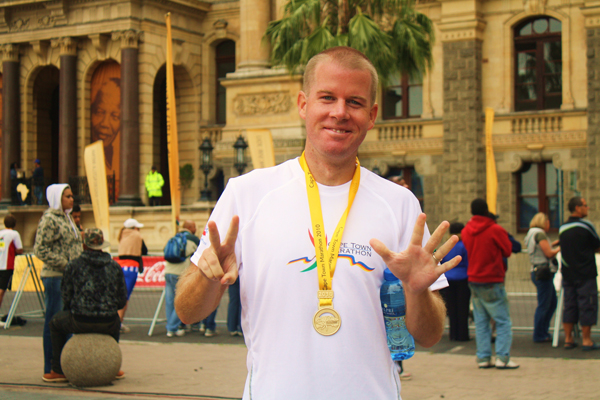 Ryan completes his seventh marathon in Cape Town