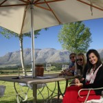 Wine tasting with friends in Stellenbosch, South Africa