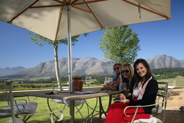 Wine Tasting with Friends in Stellenbosch South Africa South Africa's Winning Winelands