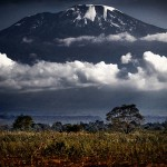 Morning view of Mt. Kilimanjaro from Moshi, Tanzania