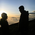 Savoring every moment of the sunrise atop Mt. Kilimanjaro