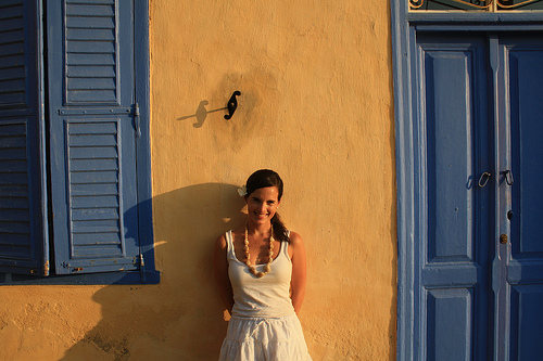 Laura in Symi, Greece