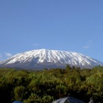 On a clear day after a storm, it's possible to get a view of snow-capped Mt. Kilimanjaro